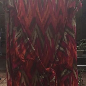 Michael Kors Dresses - Michael Kors 2x shirt dress orange pink tan EUC